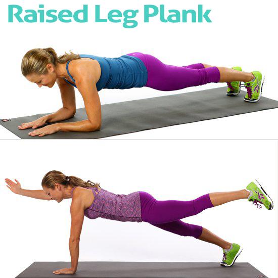 Raised Leg Plank