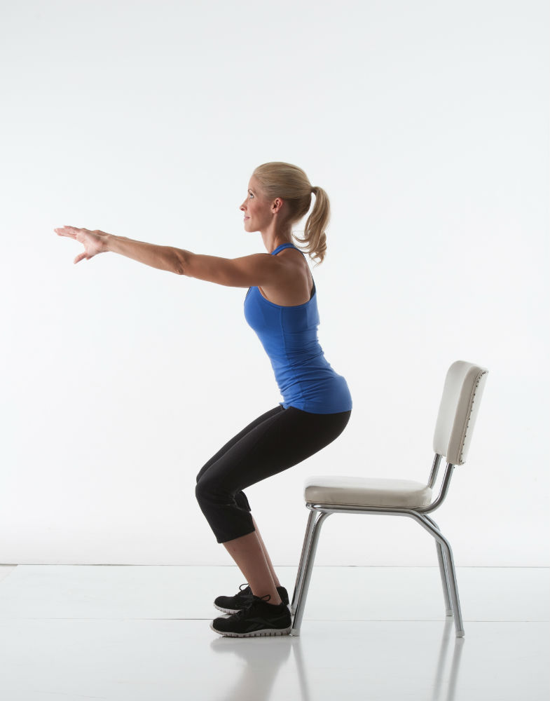 Squats at a Chair