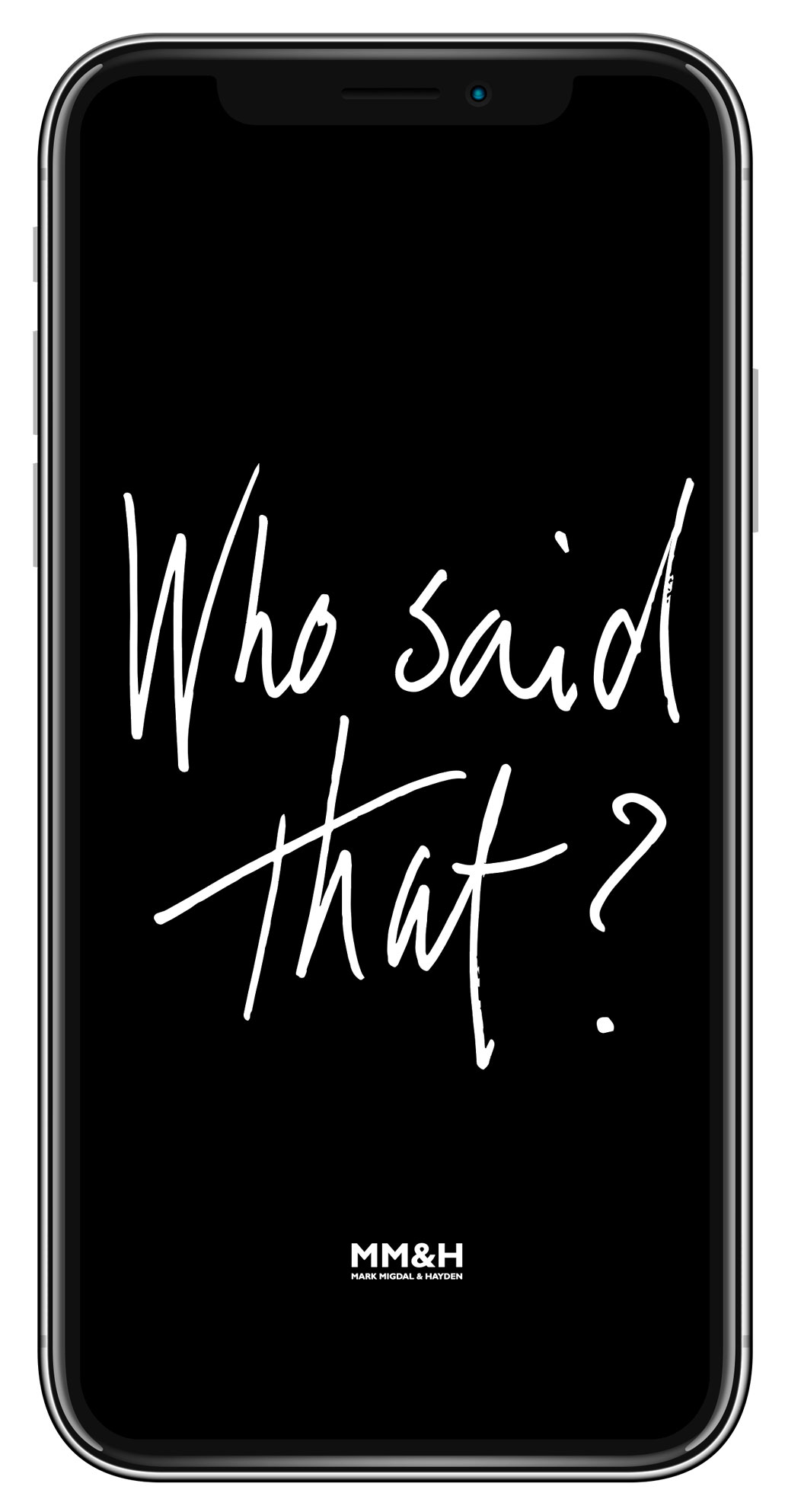 Who Said That? Quiz cover