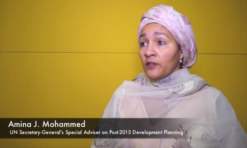 Interview with Ms. Amina Mohammed, Secretary-General's Special Adviser on Post-2015 Development Planning