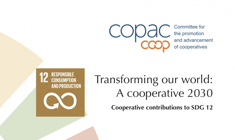 How cooperatives contribute to sustainable consumption and production