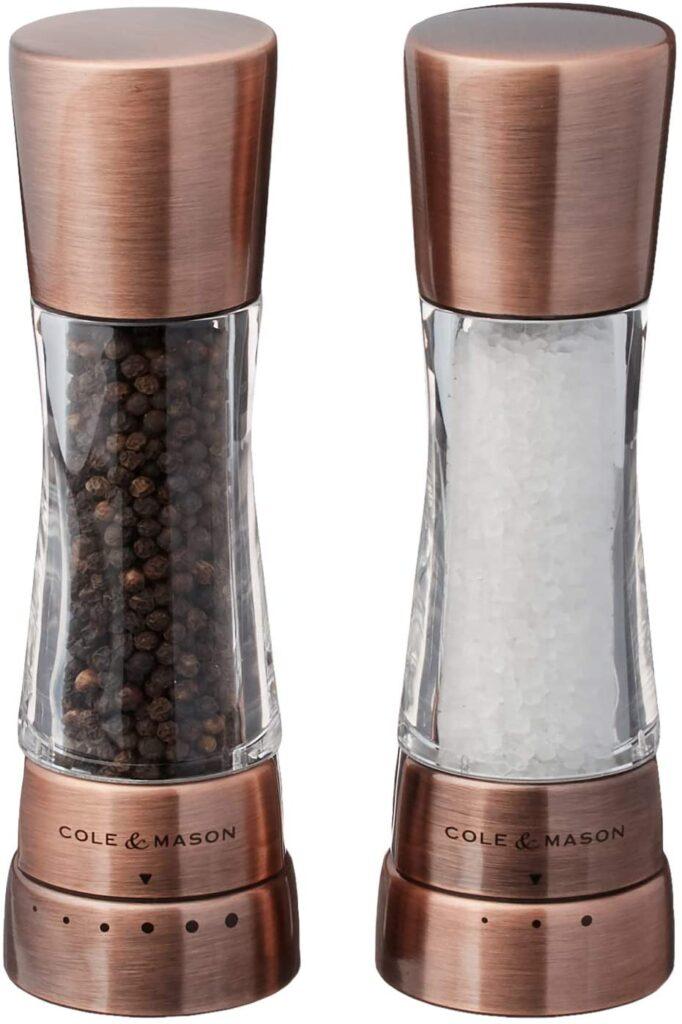 salt and pepper grinder mill set copper