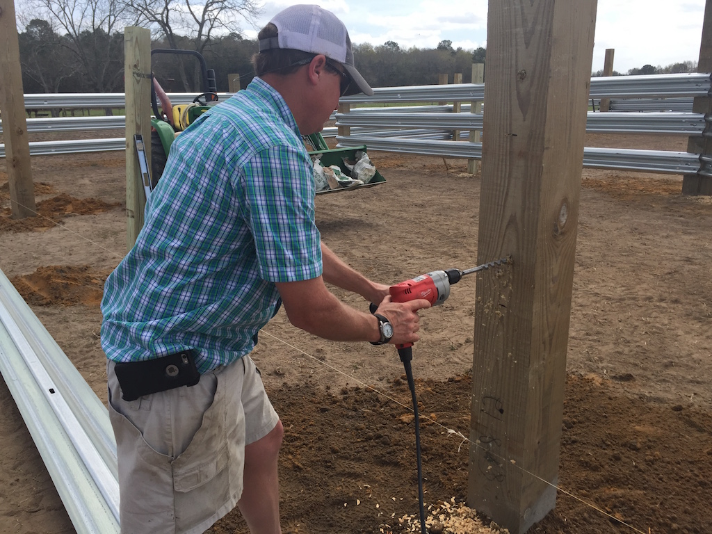 LiveStock Steel is the best guardrail for your corrals, feedlots and windbreaks