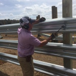 LiveStock Steel Guardrail Installation