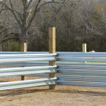 Guardrail for feed bunks, corrals, feed lots and more