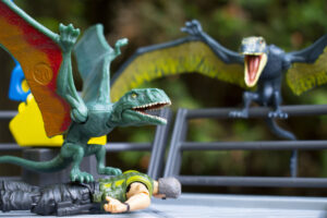 Rooftop Dimorphodon Fight