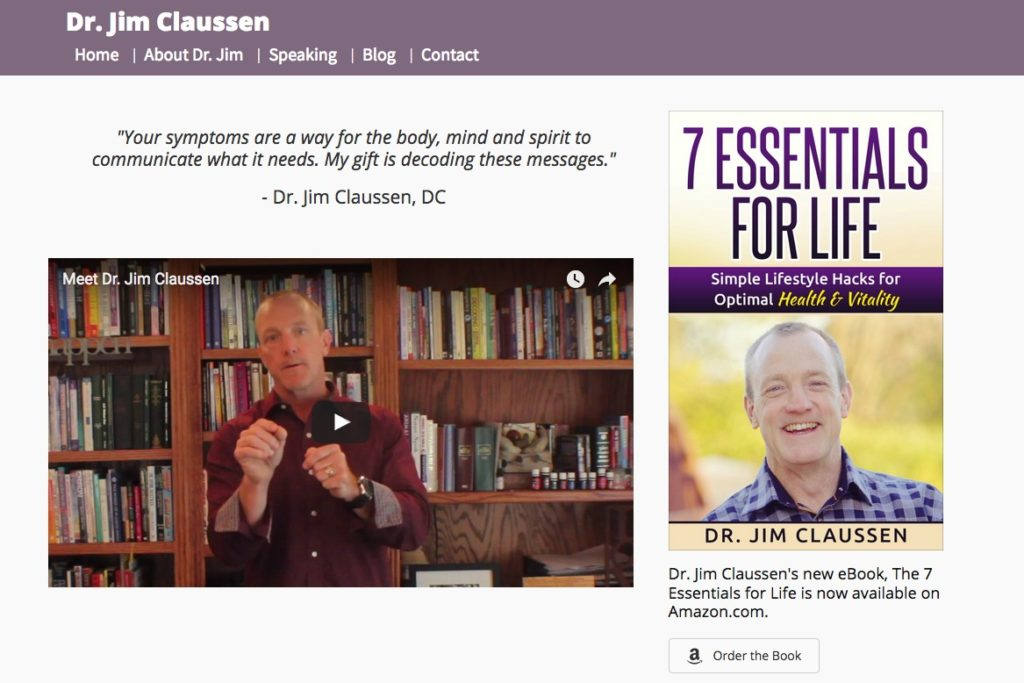 Dr Jim Claussen website