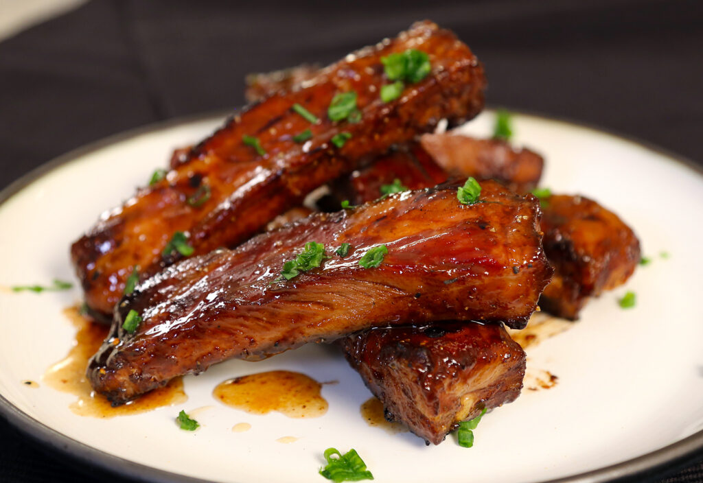 Sweet and sticky Chinese BBQ sous vide ribs
