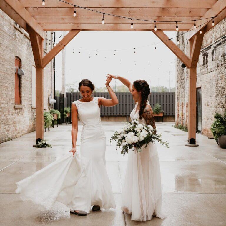 Mercantile Hall | Bride & Bride | Burlington, WI
