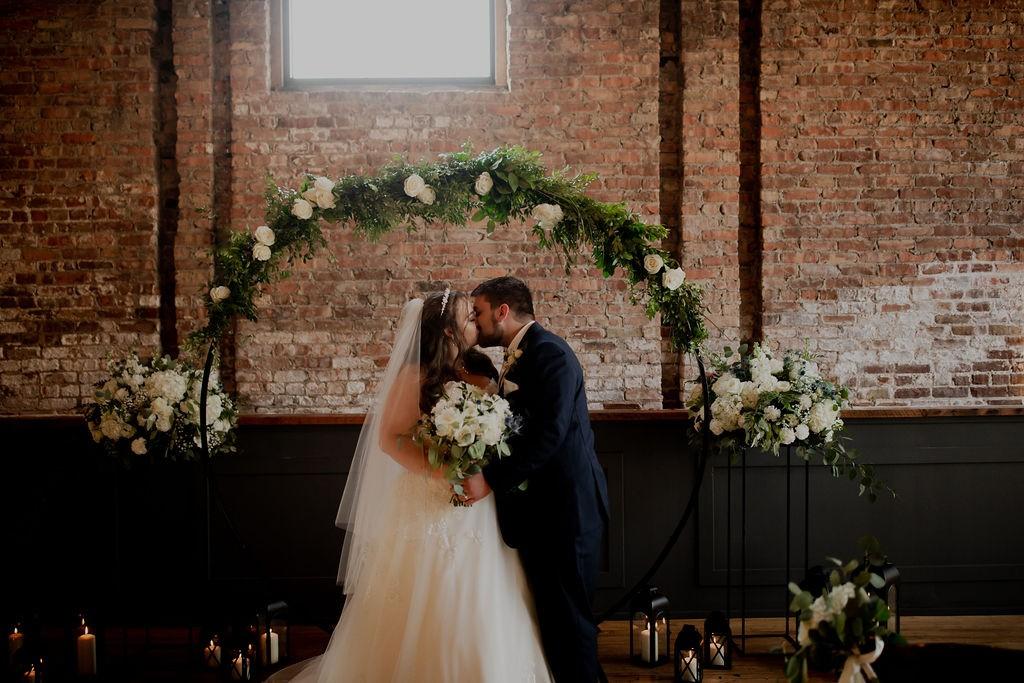 Mercantile Hall   Bride & Groom   Burlington, WI
