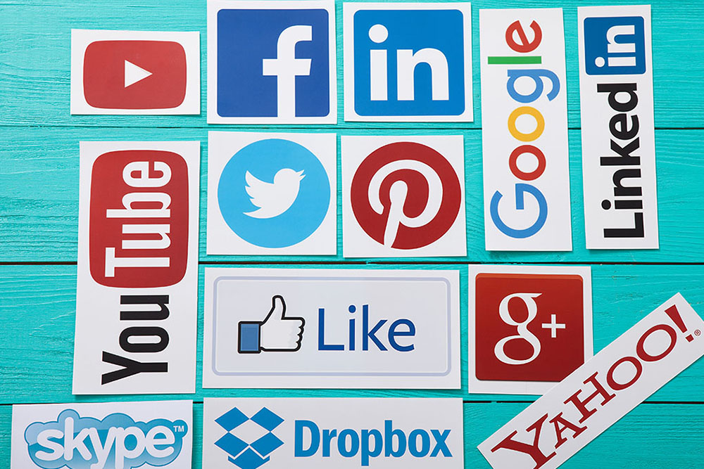 A collage of different social media channels for the understanding social media blog post