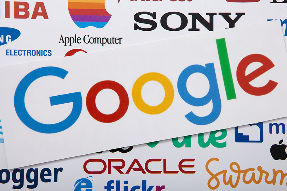 Image of the Google logo in a collage