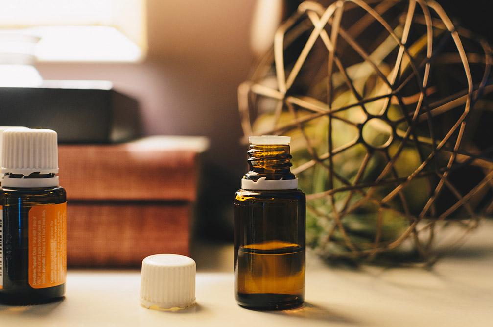bottles of oils and cbd