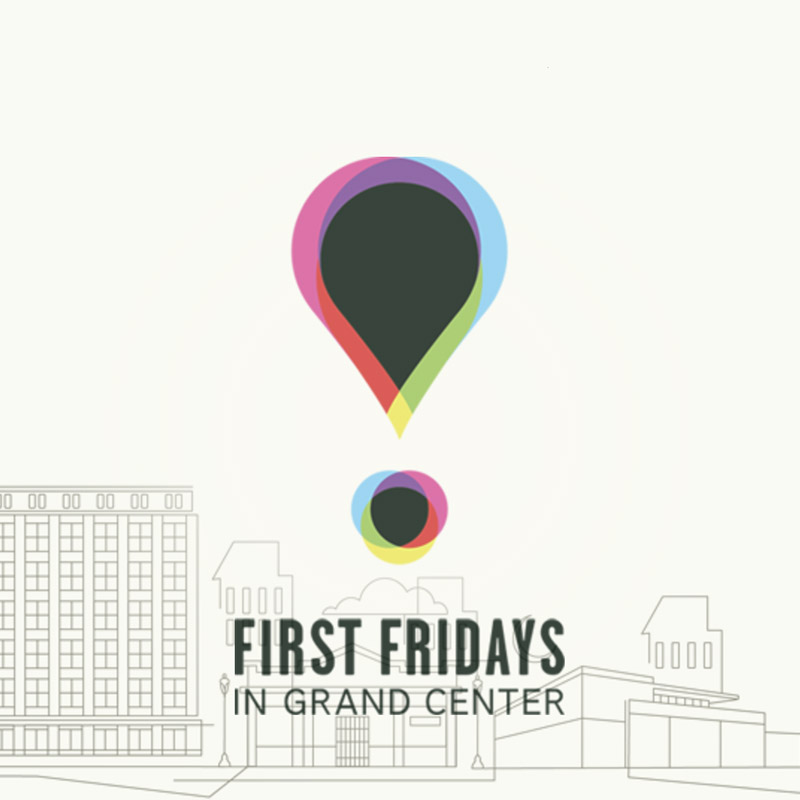 Logo for the First Fridays Grand Center