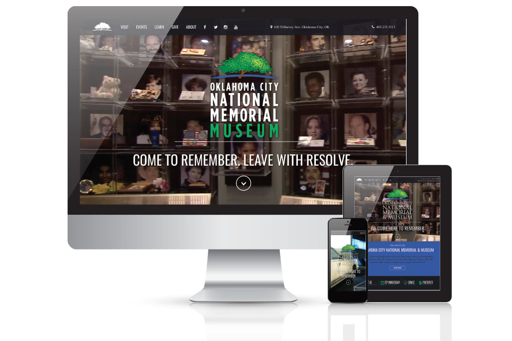Various monitor views of a website redesign for a landmark charity organization