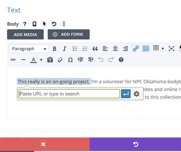 screenshot of an example of an internal link