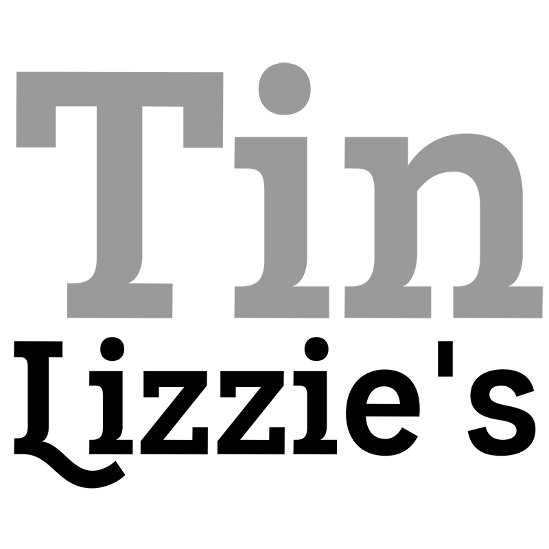Logo for Tin Lizzies gift shop in downtown oklahoma city