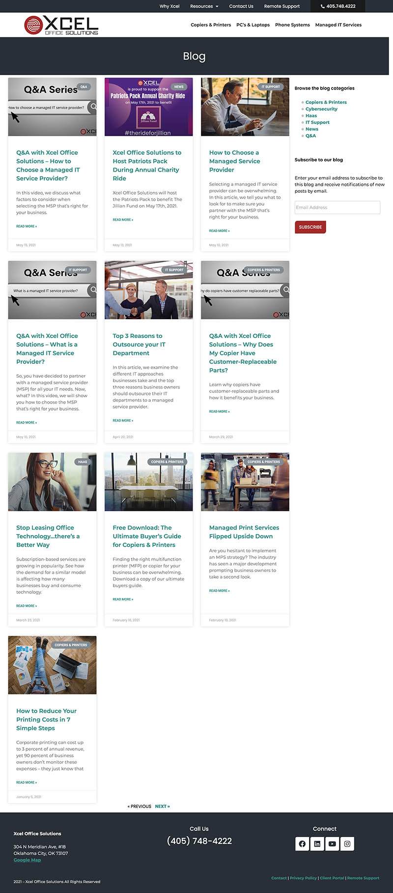blog design by GGC Digital for a print services company in OKlahoma