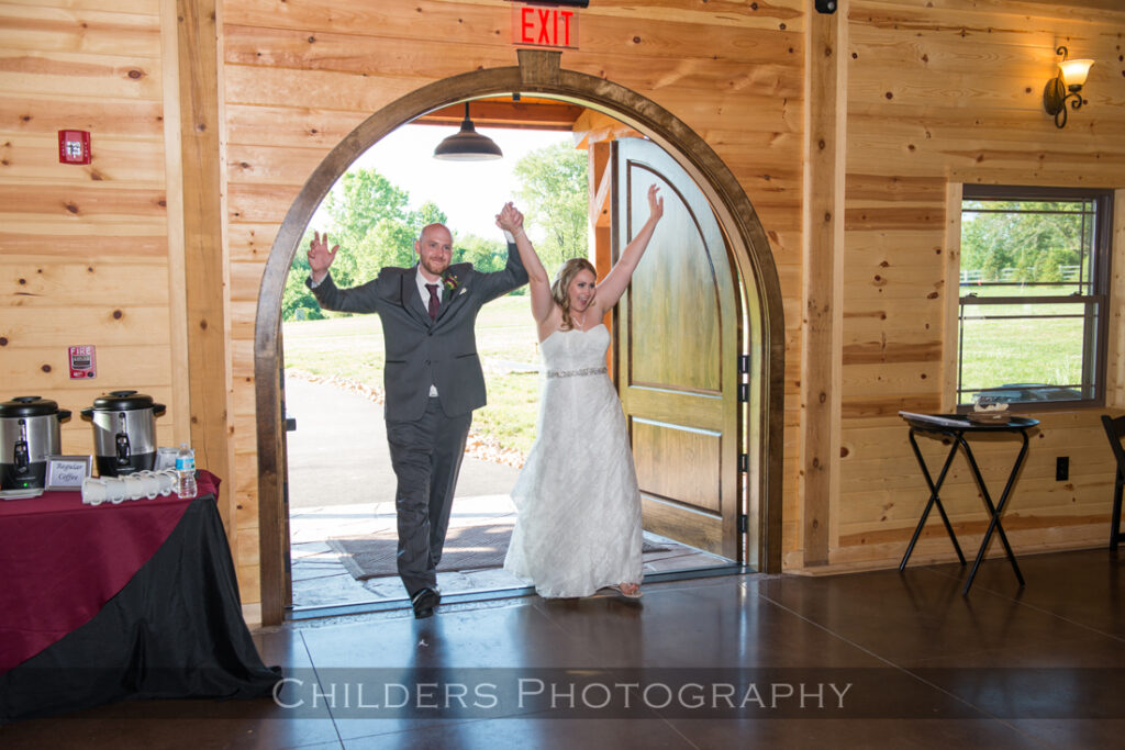 bride and groom enter