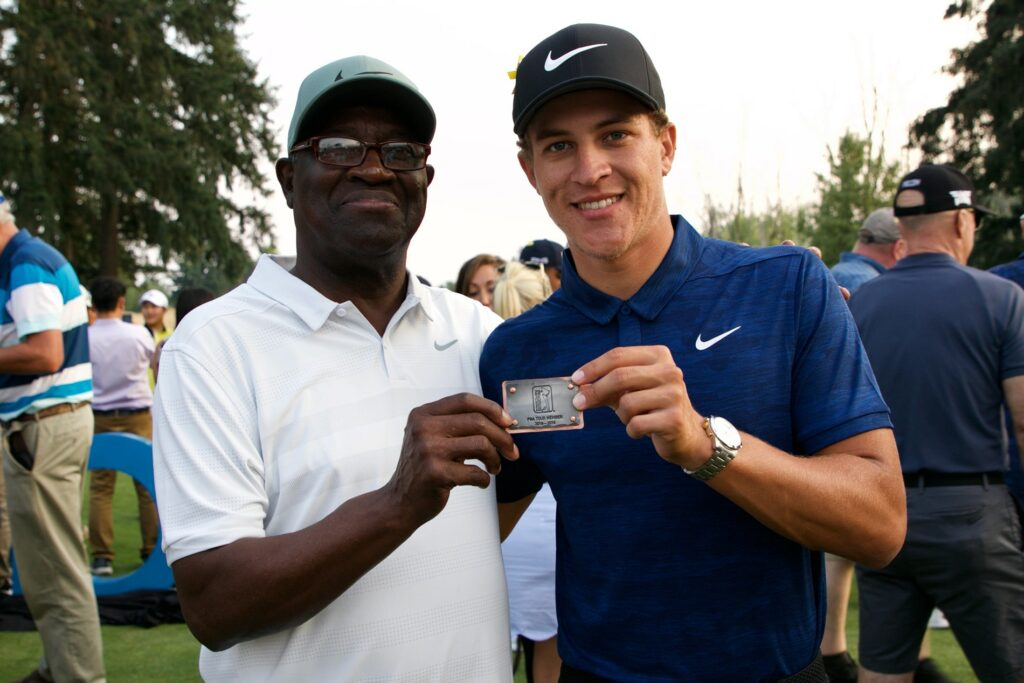 Cameron Champ with Mack Champ tour medal