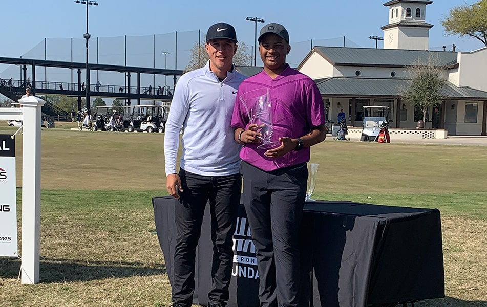 Cameron Champ with Roman Solomon