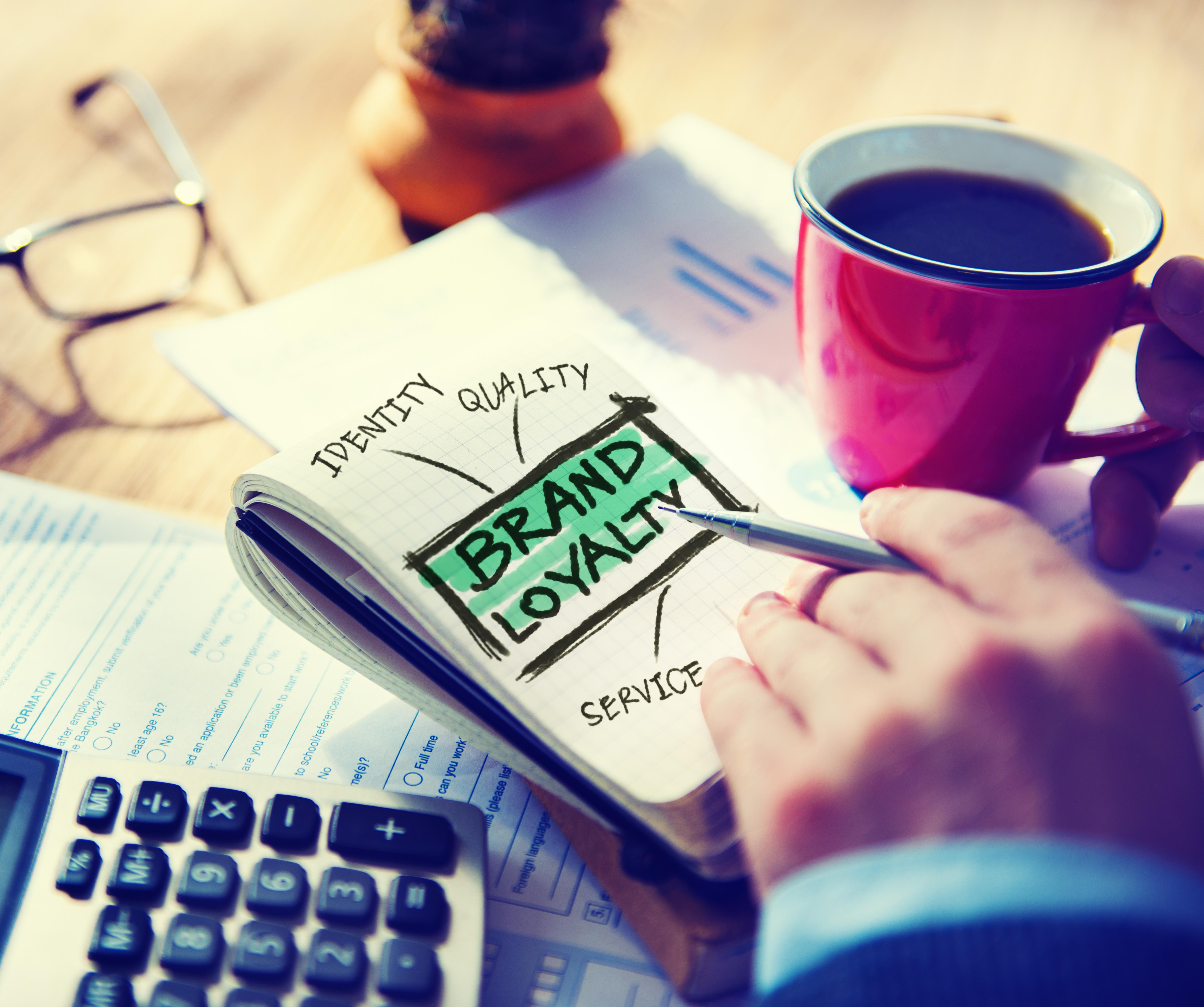 Brand Loyalty Marketing Branding Working Accounting Concept