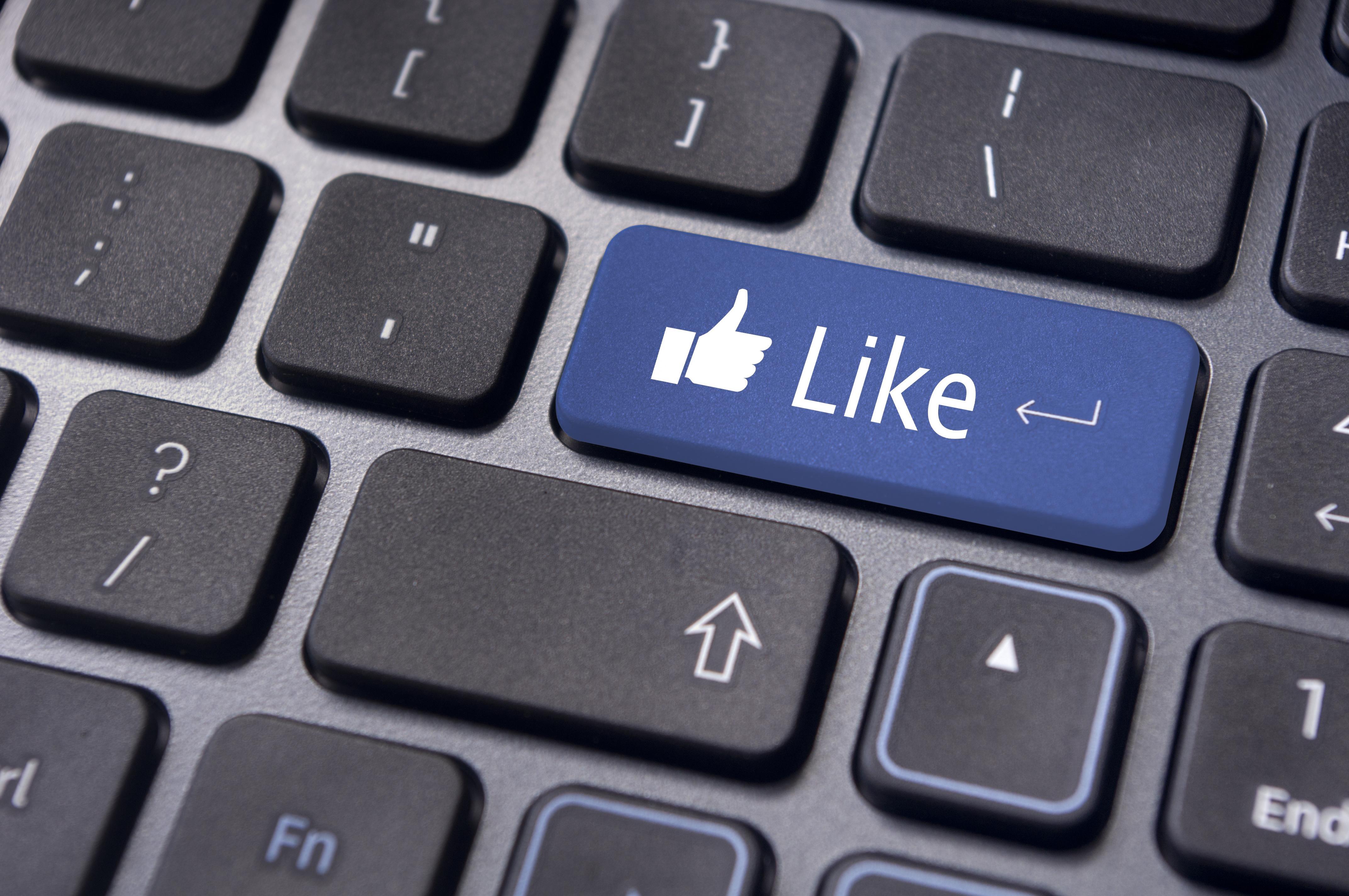 Facebook like status update