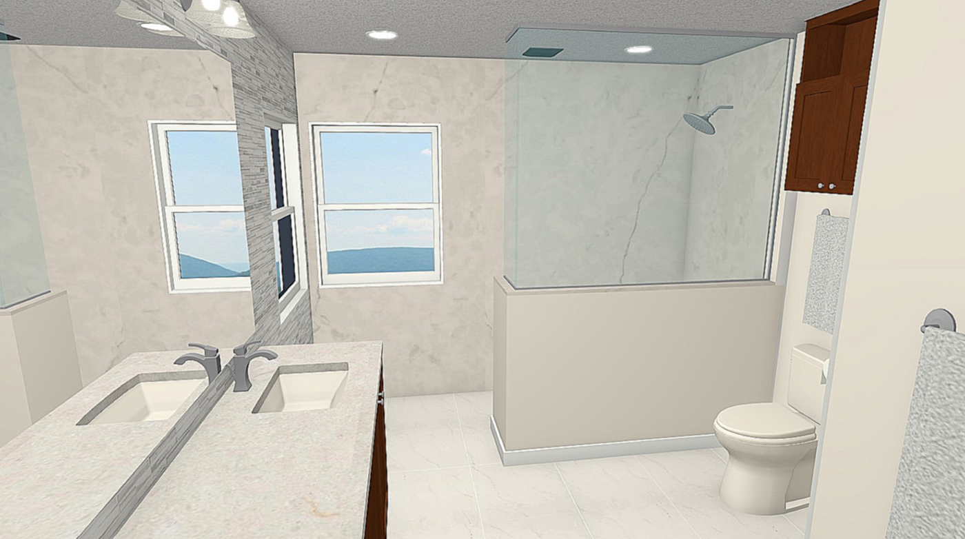 NJW Construction from Blueprint to Reality bathroom remodel digital file