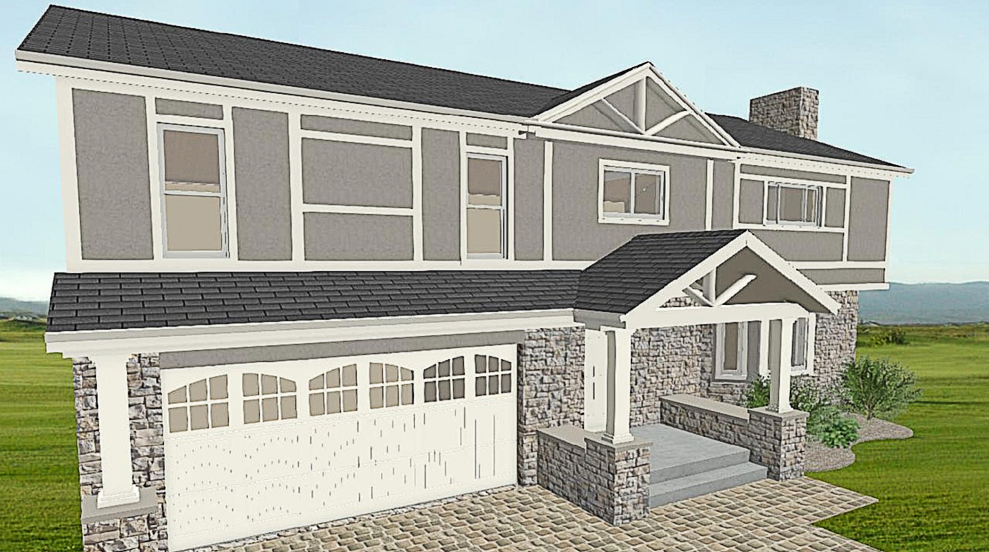 NJW Construction from Blueprint to Reality Exterior digital model rendering of exterior remodel