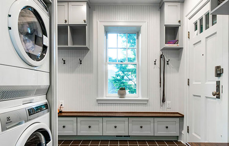 Addition of a laundry room by NJW Construction