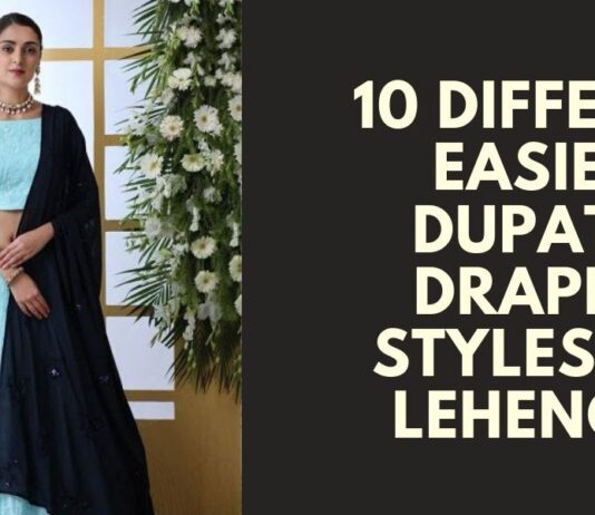 Dupatta Draping Styles for Lehengas