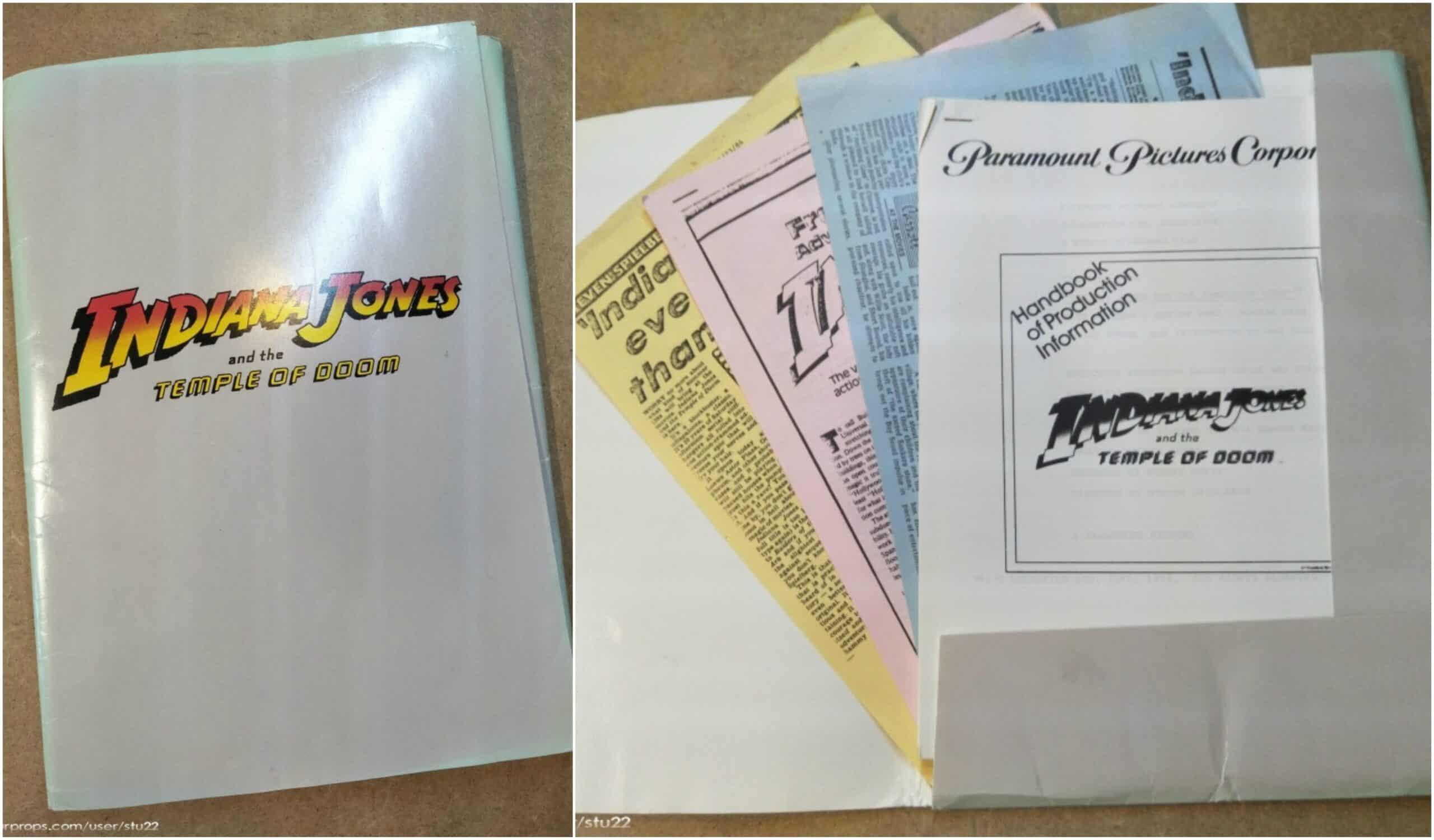 """Temple Of Doom"" Indiana Jones movie press kit!"