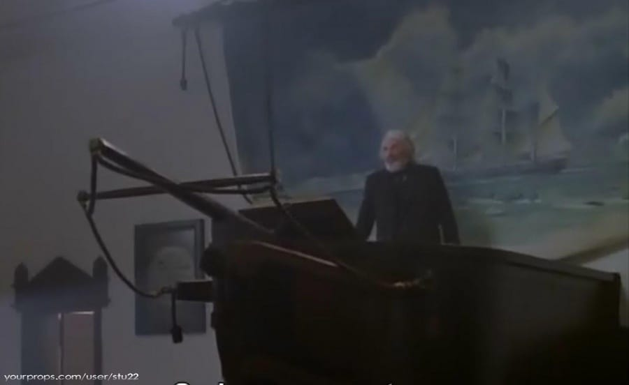 Moby Dick bowsprit crucifix. Gregory Peck 1998 Father Mapple's sermon.