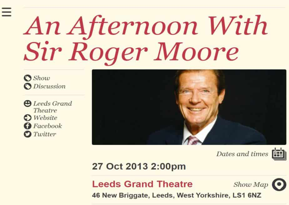 Last Man Standing. Roger Moore Signing.