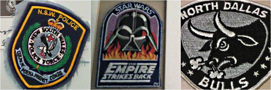 Cloth patches from film production
