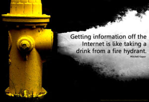 Getting information off the Internet is like taking a drink from a fire hydrant quote