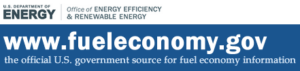 Link to the DOE and EPA fuel economy website
