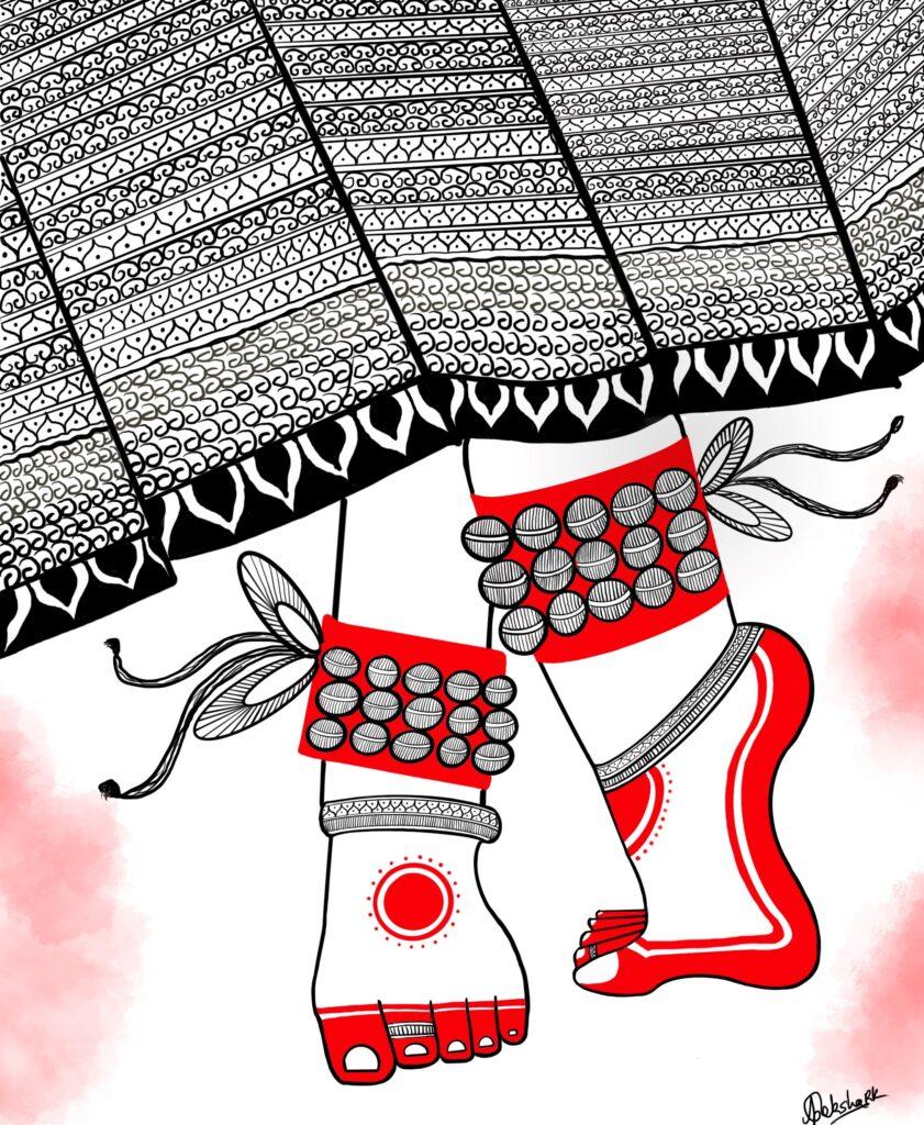 Dreamy Nomad Indian Dancer Digital Art