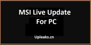 MSI Live Update For PC