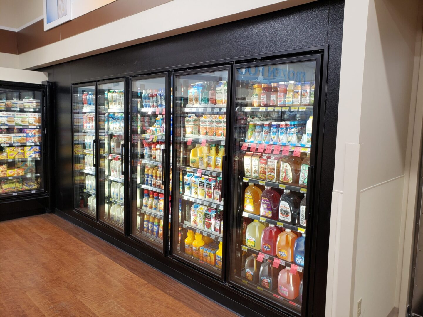 Anthony 401W Cooler Doors & Frames with Optimax Lighting