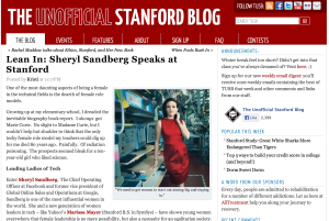 Unofficial Stanford Blog Content Marketing