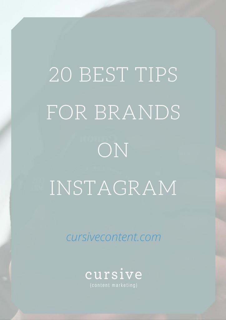 20 Best Tips for Brands on Instagram