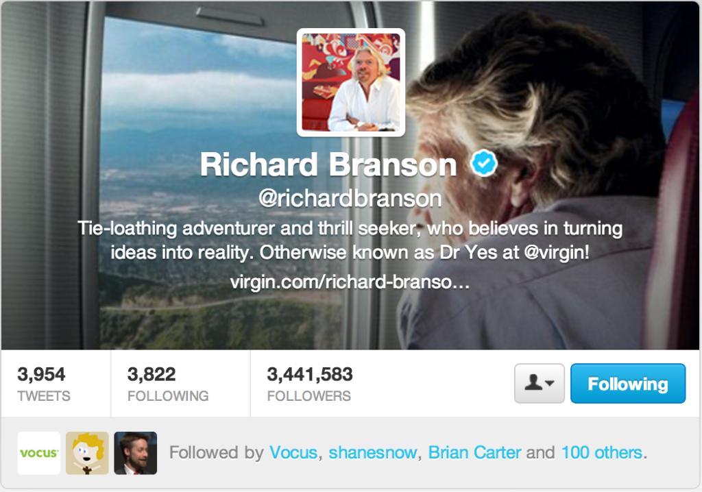 sir richard branson twitter millennial mentor