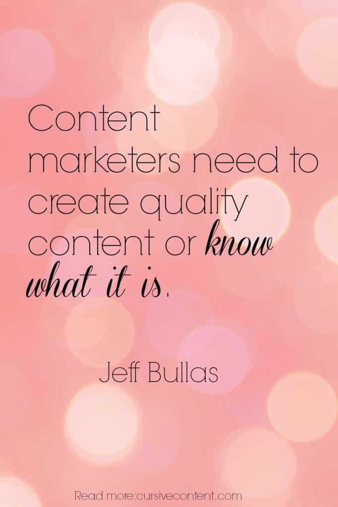 jeff bullas content marketing quote cursive
