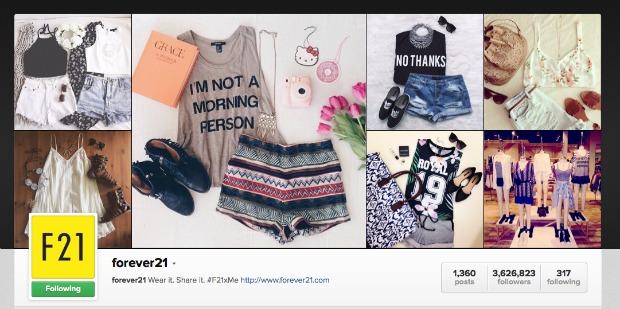 Forever 21 Instagram