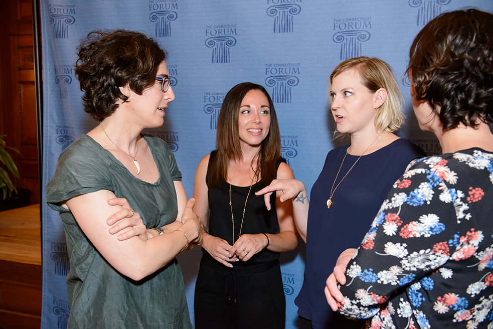The Connecticut Forum: Serial. Photo: Sarah Koenig, Emily Cretella, Rachael Shaw, Julie Snyder