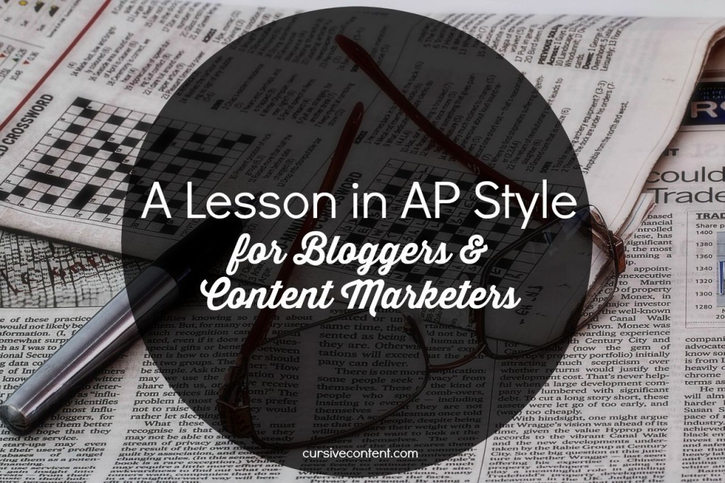 A Lesson in AP Style for Bloggers & Content Marketers