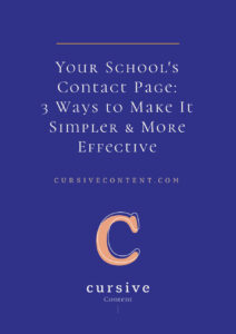 Your School's Contact Page: 3 Ways to Make It Simpler & More Effective