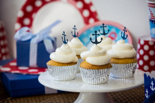 Nautical birthday cupcakes turks and caicos