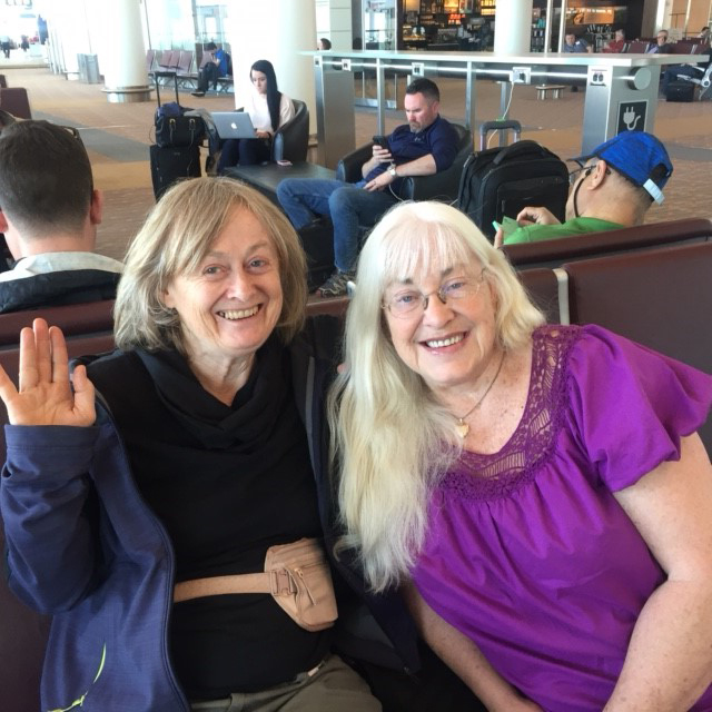 Judi and Midwife star of the documentary on our way to Nice!